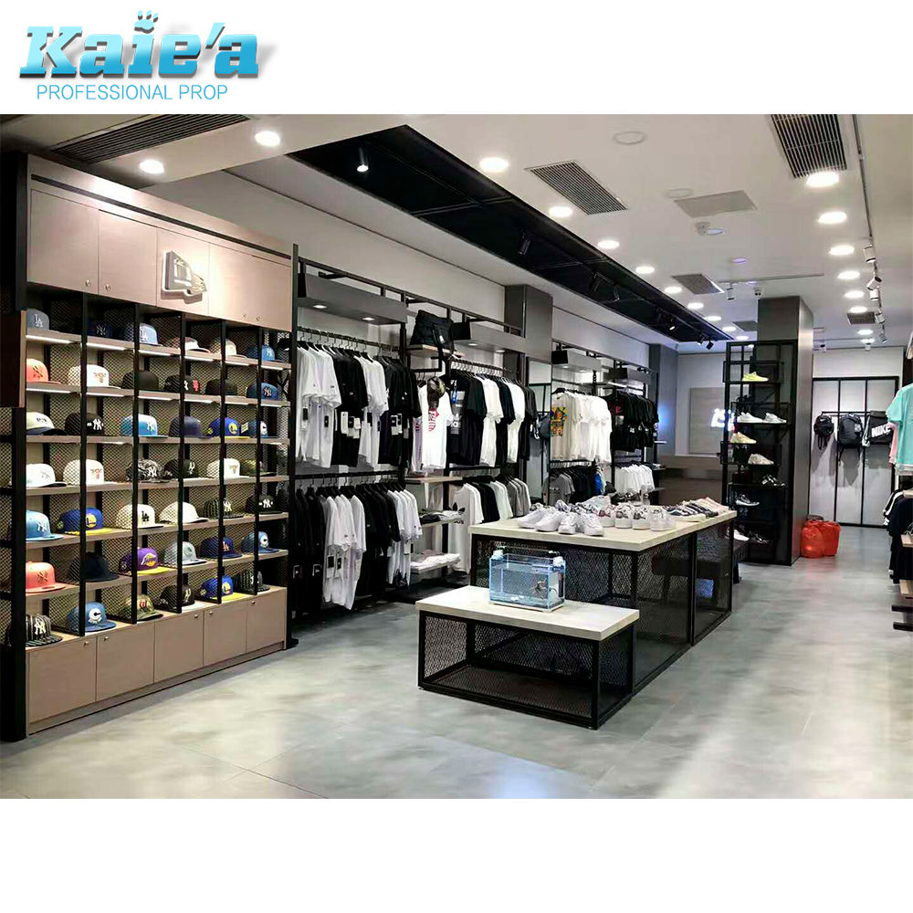 retail clothing shop furniture clothes shop fitting fixture cloth apparel shop display cabinet stand for garment store