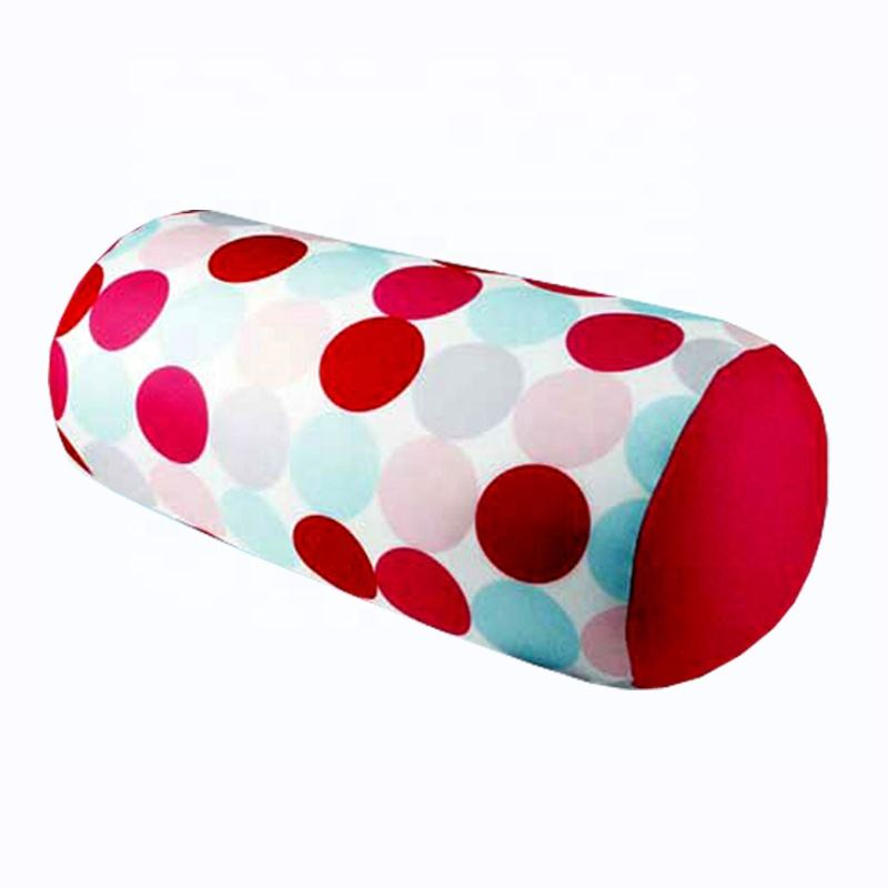 sofa cushion tube cylinder shape microbeads massage hold pillow