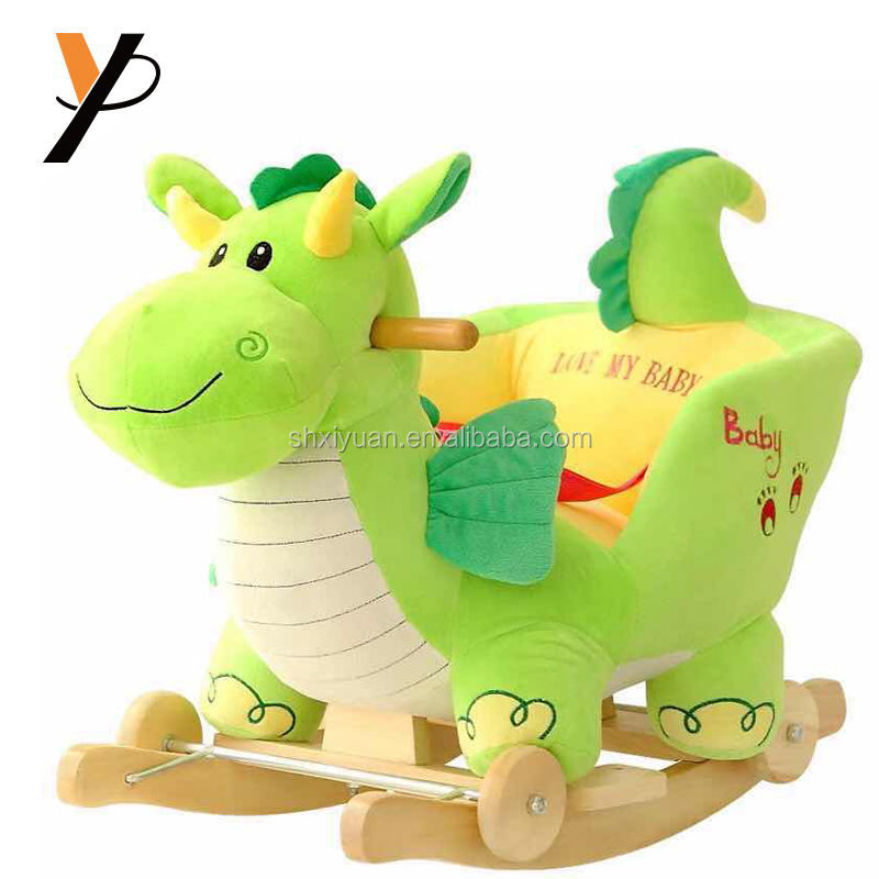 Small kids animal shaped chair rocking horse kids ride on plush toys soft toddler toys
