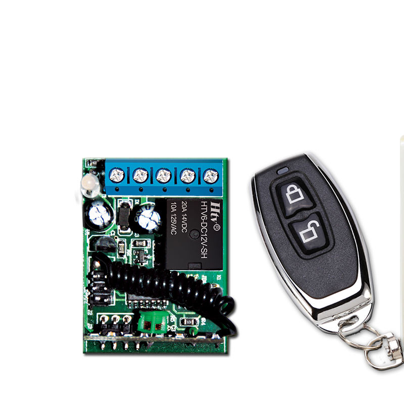 ZK1PC+ZY16-E,Low Cost,Mini size,80M distance,wireless 12V electronics remote control switch,1CH,Fixed code,Lock&unlock function.