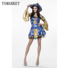 Halloween new beauty pirate costume female demon clothing stage performance dress fitted temperament queen cosplay costume