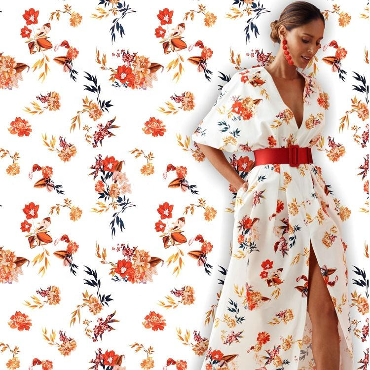 Eco-Friendly No Moq Design Your Own Floral Digital Print Mikado Satin Fabric Custom Printed Satin Chiffon Fabric For Dress