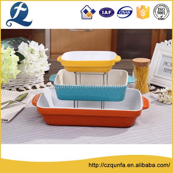 Многофункциональный разных размеров три слоя керамический набор для выпечки