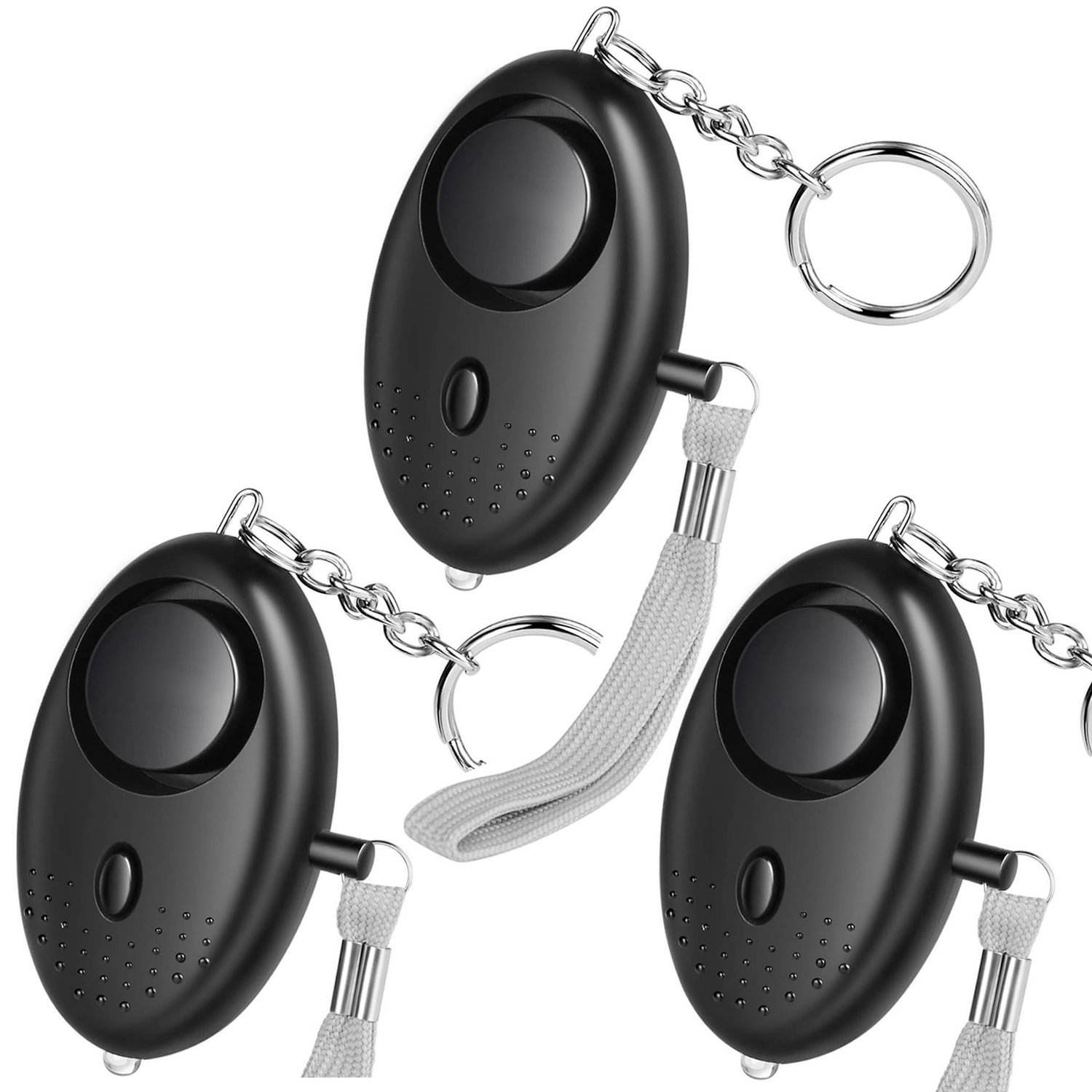 Factory Wholesale Amazon Best Selling 130db Buzzer Personal Emergency Alarm Keychain Alarms for Elder ladies children