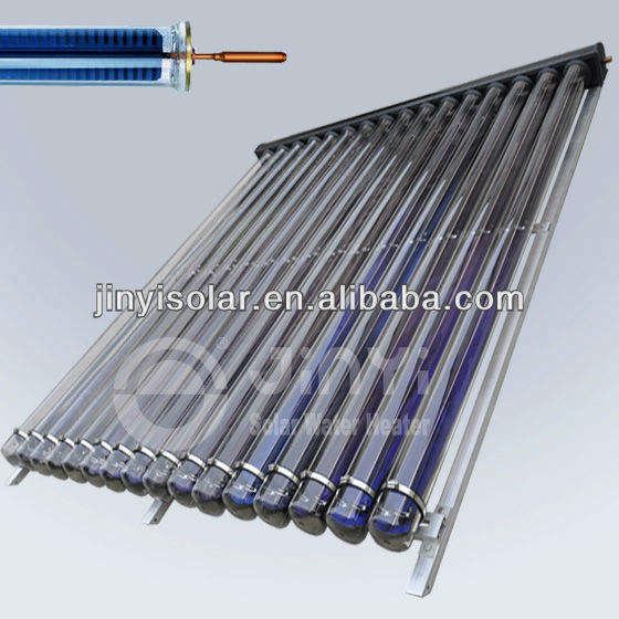 EN12975 Approved Evacuated tube heat pipe diy solar collector with flat absorber