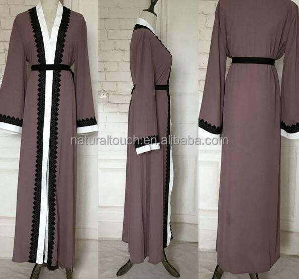 Islamic clothing Turkish Long Sleeve Islamic fashion long dress women's clothing(Mu052004)