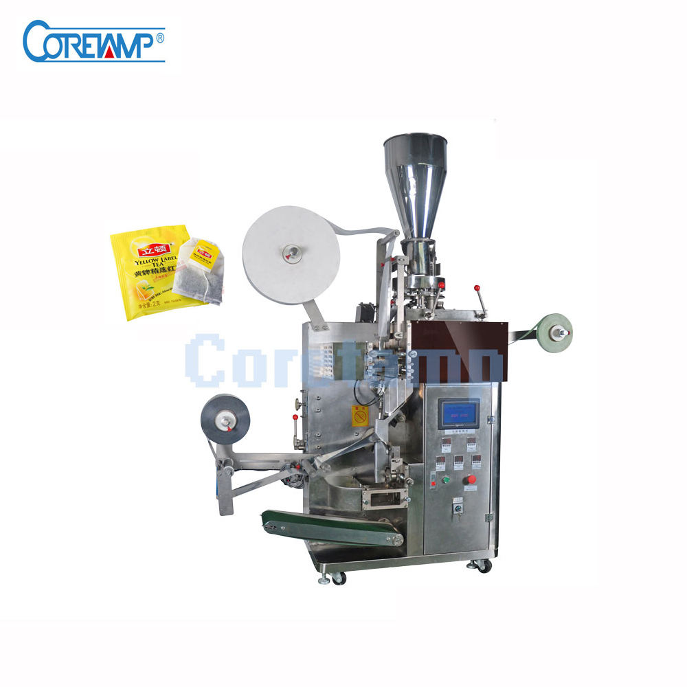 Full Automatic Double Chamber Small Tea Bag with line and label Packing Machine