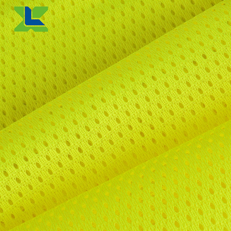 Hot Sale EN20471 Wholesale High Visibility Polyester Mesh High Light Reflective Fabric Fluorescence