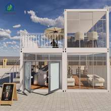 Custom glass wall shipping container house cafe coffee bar for sale