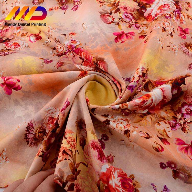 Custom design beautiful flower printed floral anti-uv cotton fabric for shirt