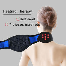 Tourmaline  Magnetic Therapy Massager Heating Neck Belt Health Care  Neck Brace Wrap Protect Band Neck Support