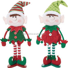 Beautiful Cartoon Boy And Girl Couple Soft Stuffed Elf Doll Toy Christmas Plush Elf