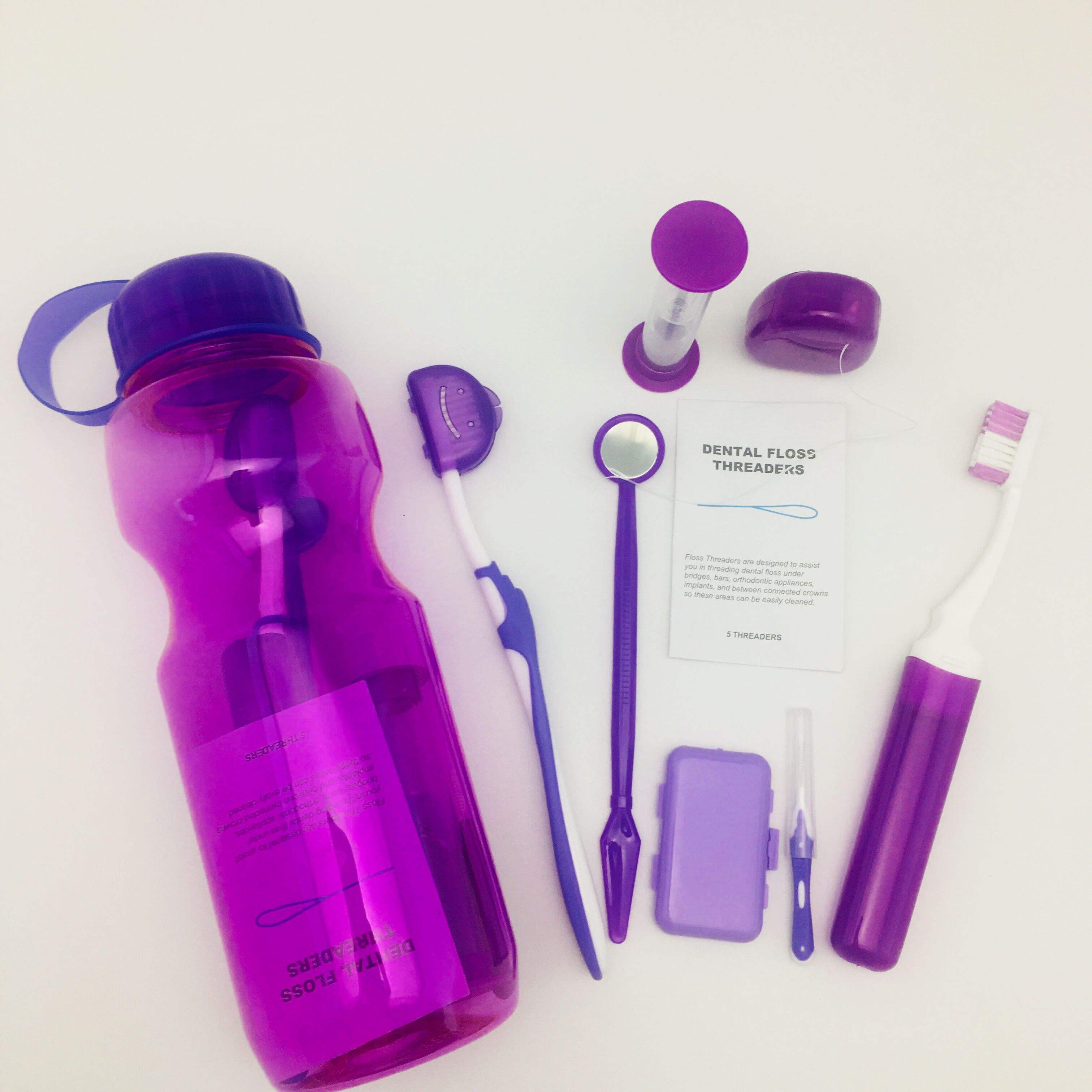 Travel Bottle Orthodontic Toothbrush Kit