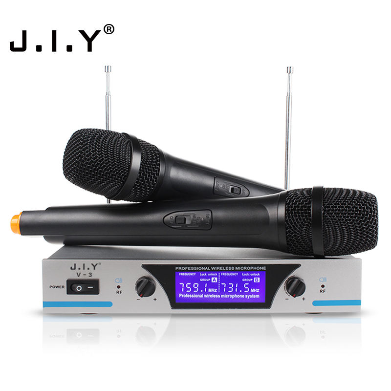 J.I.Y V3 China Enping Manufacturer VHF Wireless Microphone System Handheld Style Wireless Microphone