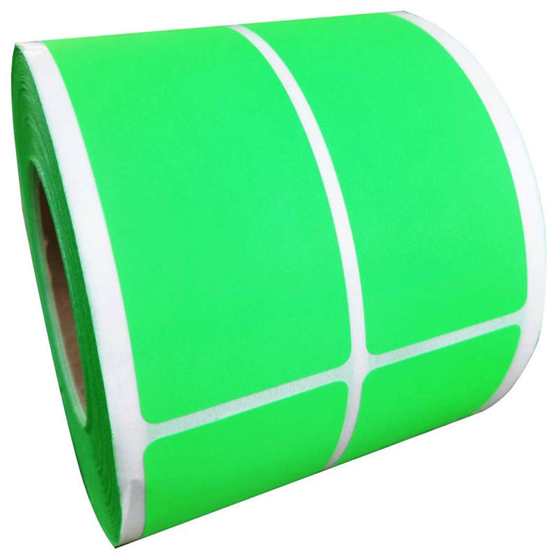 Green Rectangle Stickers - Square Self Adhesive Color Coding Labels - 1