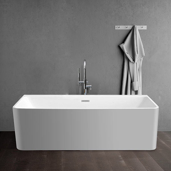 modern luxury large acrylic Bathroom deep soaking corner tubs bath 2 sided skirt bathtub freestanding bath from poland