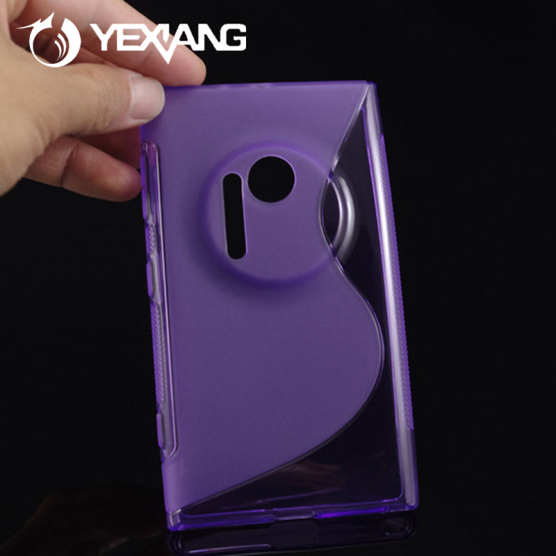 Yexiang Cheap price S Line Design Soft TPU Phone Case for Nokia Lumia 1020 Low Waterproof