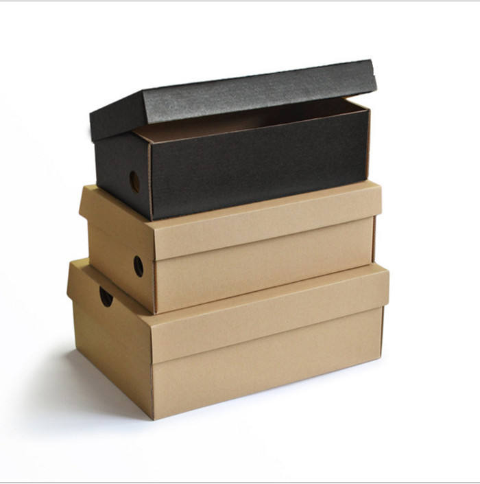 Custom cheap black Recycle Strong Plain corrugated Cardboard Shoe mailing packaging Boxes Manufacture