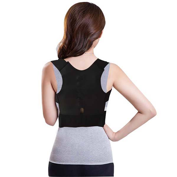Neoprene Magnetic upper back support brace belt for orthopedic posture corrector