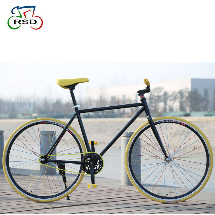 CE standard 700C Colorato <span class=keywords><strong>taiwan</strong></span> fixed gear bike/singolo speed fixed gear bike telaio hi-qualità dalla Cina titanio moto fixie