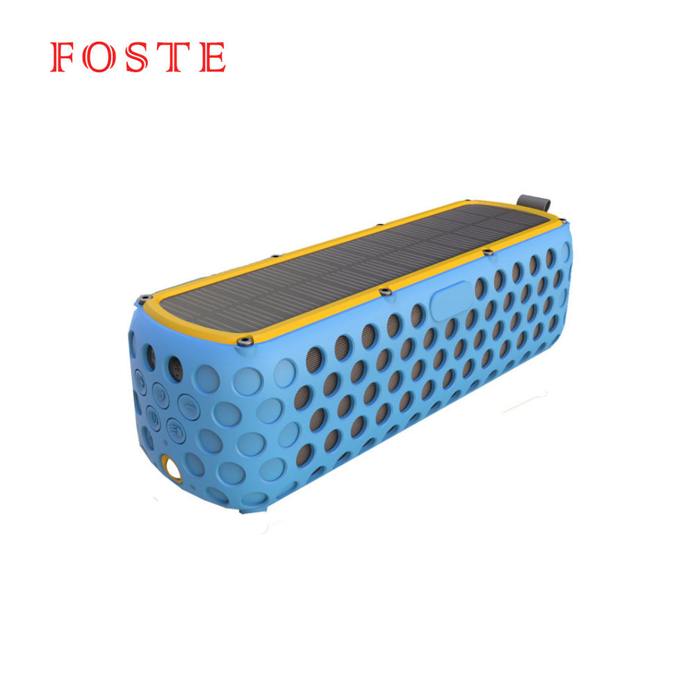Solar Powered Portable Speaker 2400mAh 30hours Playing time Bluetooth Speakers Outdoor Bluetooth Wireless Speaker