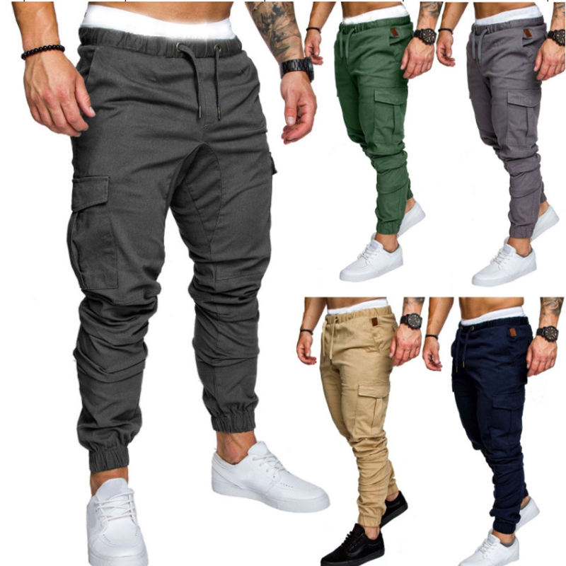 2019 casual wholesale custom track jogging pants cotton sportswear Slim Fit gym mens jogger pants sweatpants