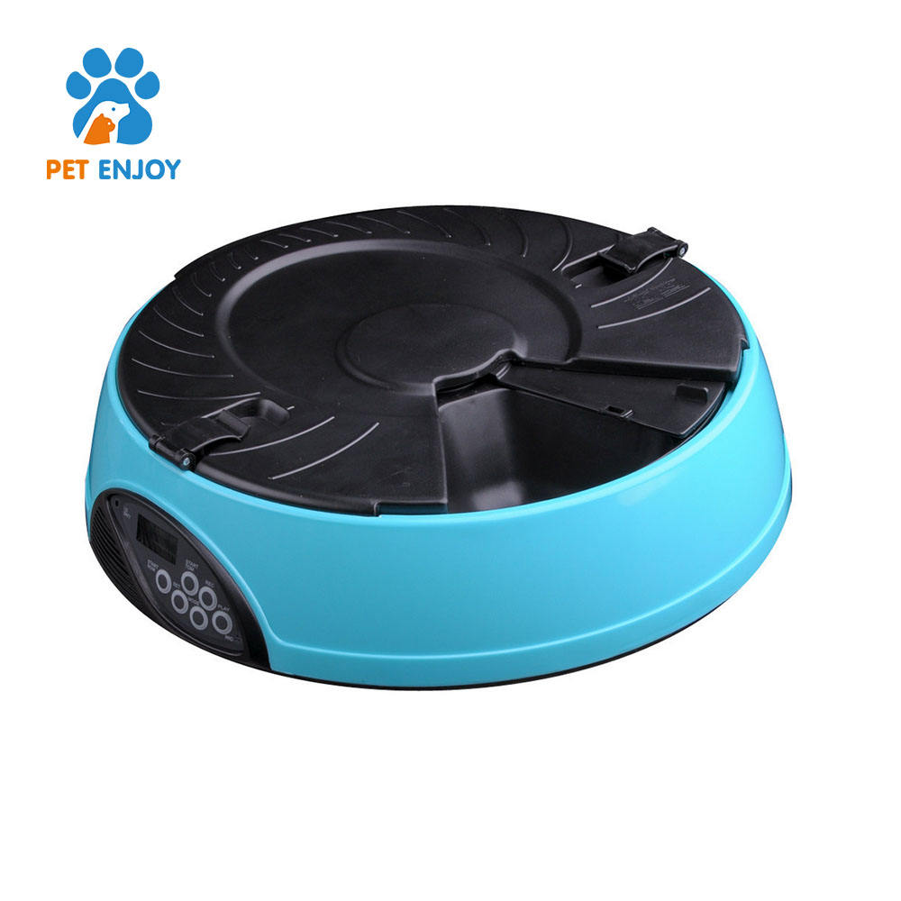 Indoor 6 Different Feeding Times Battery Powered Automatic Programmable Timer Pet Cat Dog Food Feeder