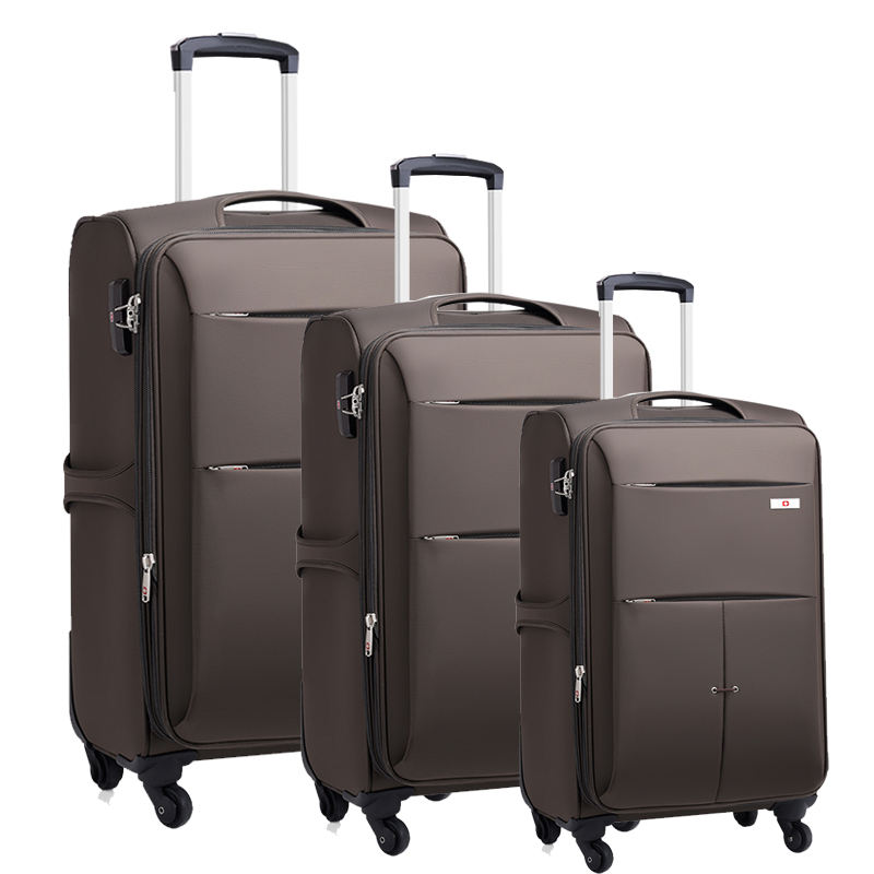 Luggage supplier 3pcs 20/24/28 Inch oxford Luggage set Carry-On trolley promotional travel suitcase
