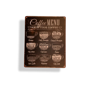 Logo Metal Plate Metalembossed Or Engraved Metal Sign Printed Custom Printed Logo Advertising Metal Sign Coffee Shop Nostalgic Design Advertising Aluminum Plate Tin Sign Plaque For Wall Deco