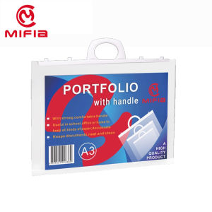 Mifia Clear A3 Size Portfolio Document Project Map Tas