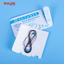 China High Quality Disposable braided black silk surgical suture with needle