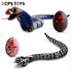 Novelty toys from china infrared remote control plastic simulation snake toy with light