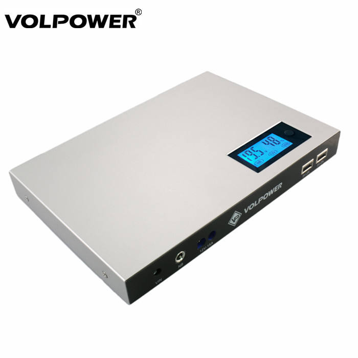 Volpower P180 Multifunction DC 출력 상에 Solar battery charger 50000 mah 노트북 Powerbank usb-c laptop power bank 19 v 대 한 델