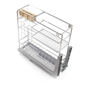 Stainless Steel Sitchen Cabinet Storage Basket Cabinet Basket Pull Out