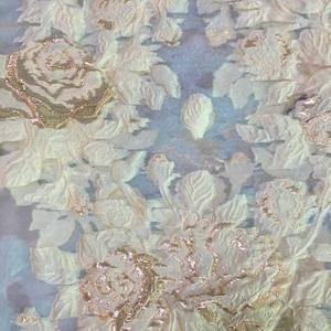 fashional new organza fabric jacquard polyester metallic fabric for dress custom light fabric