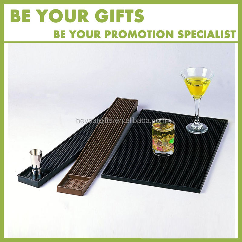 Custom Design en size PVC Rubber Bar Mat bier cup mat