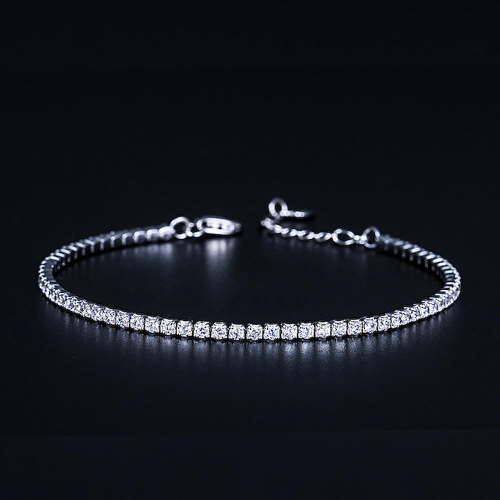 Wholesale Women Jewelry Fashion Charming 925 Sterling Silver Tennis Bracelet for girl lady women