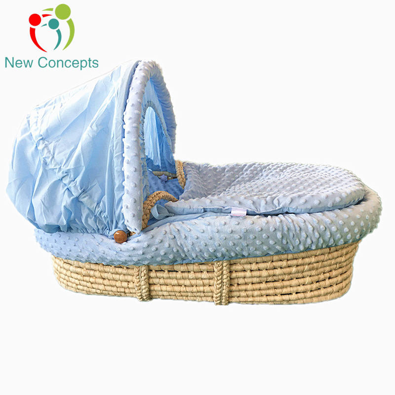 Handmade woven wicker baby moses basket with handle View larger image Handmade woven wicker baby moses basket with handle Handma