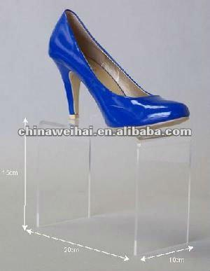acrylic shoes display platform