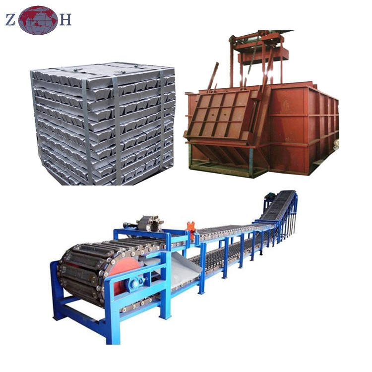 Chain type aluminum ingot casting machine for producing 6kg-40kg aluminum ingot & lead ingot