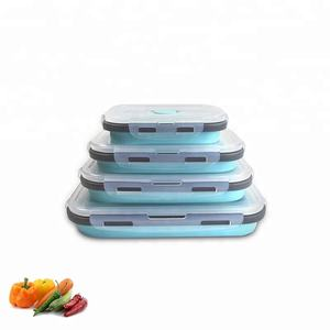 Foldable Meal Prep Storage Container Silicone Collapsible Lunch Box