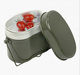 Outdoor Lunch Box Army Soldier Set Mess Kit Canteen Kettle Pot Food Cup Bowl aluminium mess tin