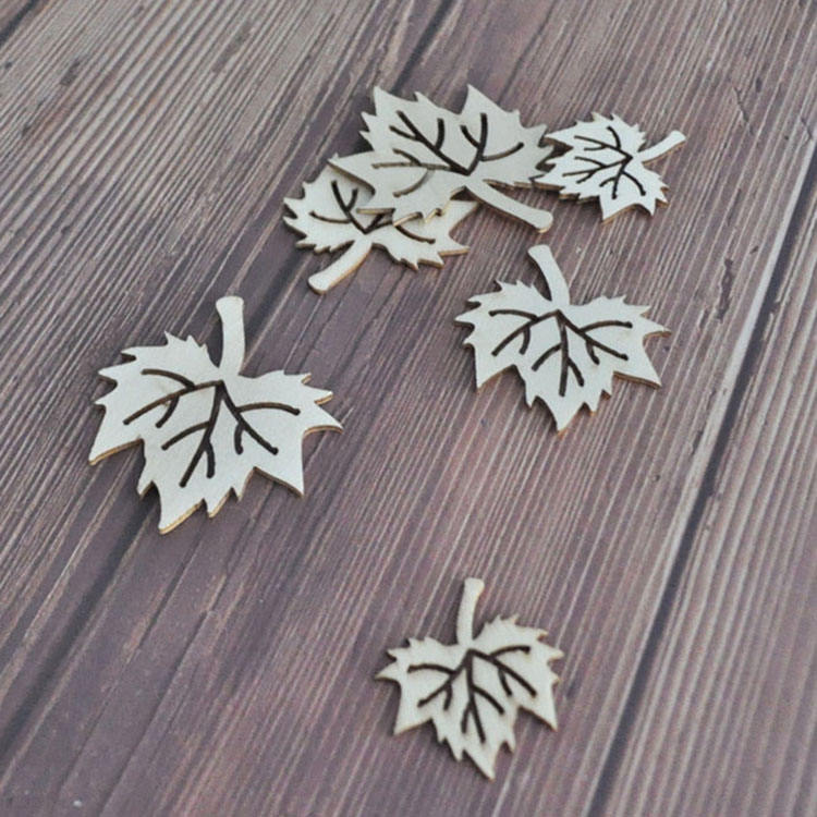 Leaves shaped small die-cut wood shapes ornaments craft