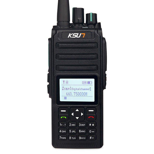 DMR Numérique Sans Fil Interphone Soutient U/V 400-700MHz 4FSK Modulation Numérique 8W 5800mAh Talkie-walkie talkie-walkie