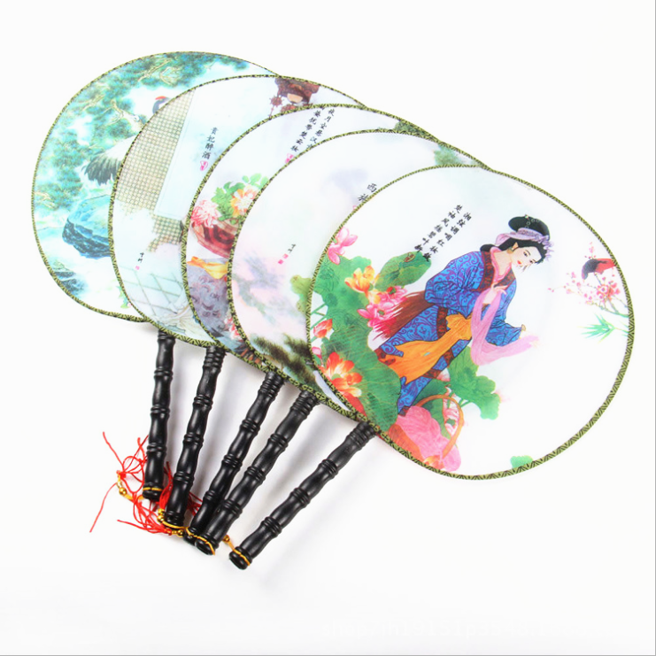 Eco Friendly Custom Printed Plastic Transparent Hand Fans Chinese Hand Fan