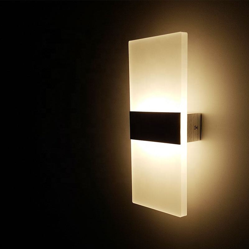 Modern Led Wall Light up down indoor living room reading wall bracket Light led acrylic Simplicity Decorative wall light