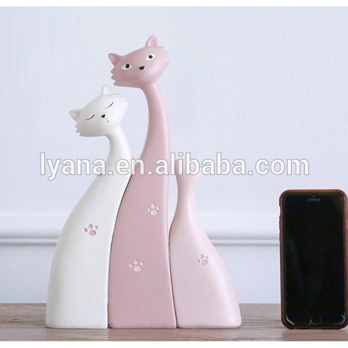 3 Pieces Cat Resin Dolls Desk Accessories Cute Sleepy Cat Kitty Sweet Home Decoration Kit Paw Print