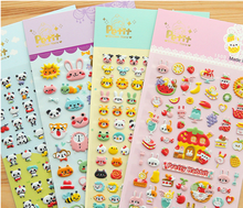 Hot style custom kids 3D foam bubble stickers for wholesale
