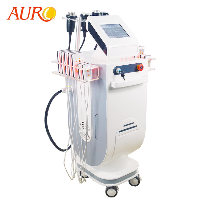 Au-62B Vertical Lipo Fat Reduction 40K Cavitation RF Vacuum Body Machine
