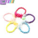 Bead Korean Gauze Bowknot Lovely Acrylic Candy Colors Bead Bracelet For Children